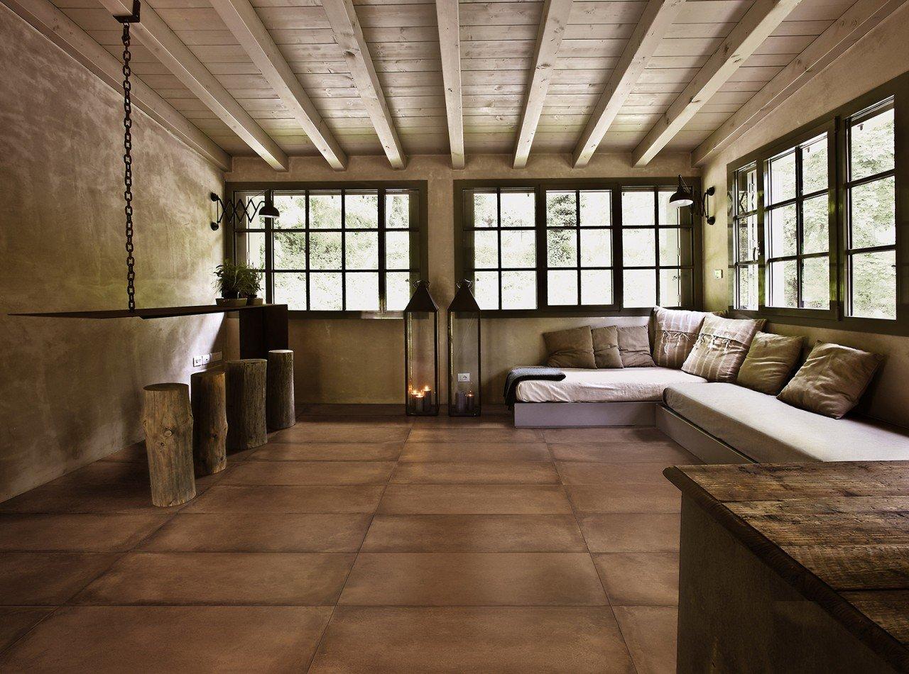 Pavimenti gres porcellanato effetto cotto milano spazio
