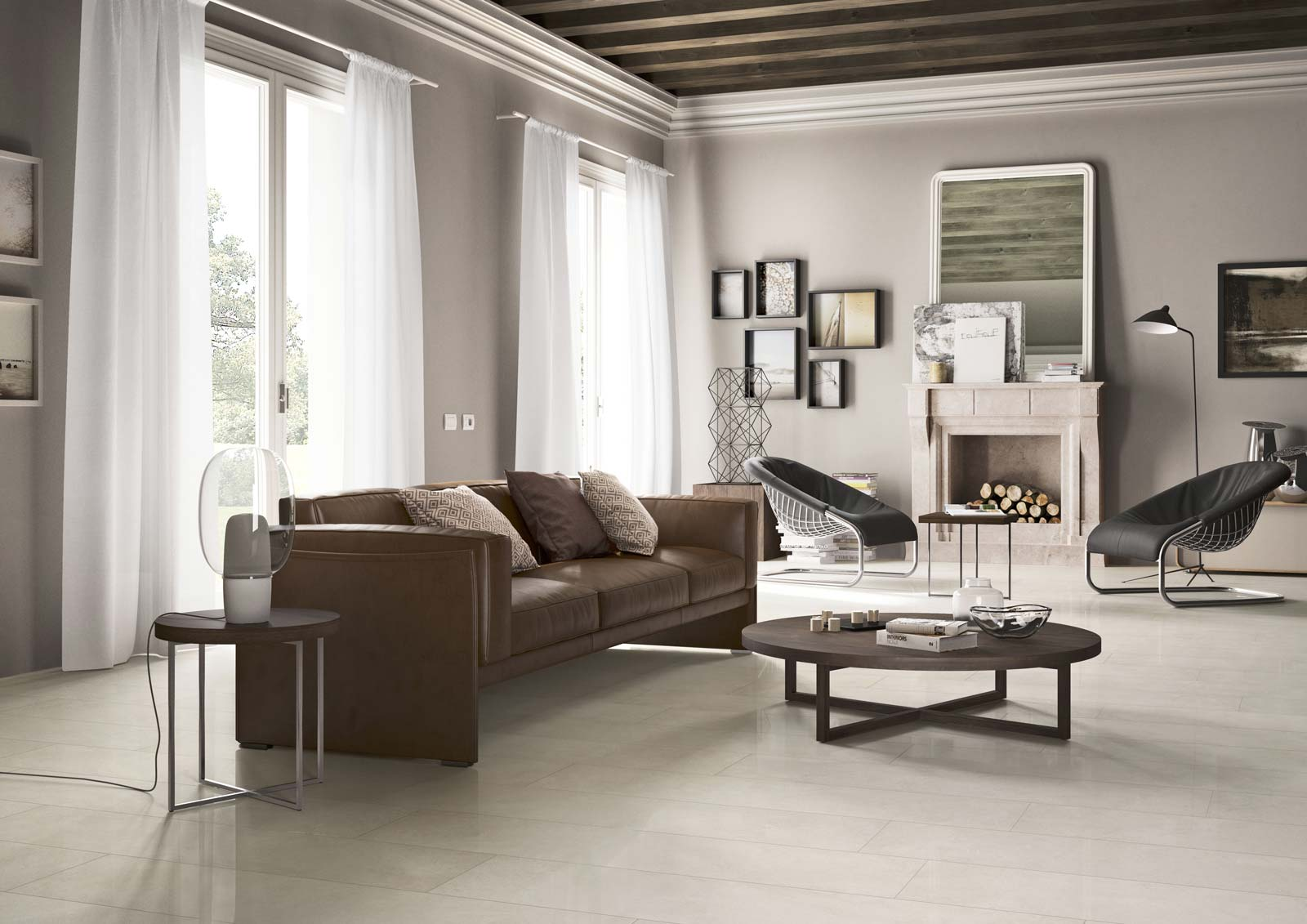 Pavimenti gres porcellanato effetto pietra milano spazio 11 for Pavimenti salotto